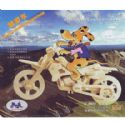 Woodcraft construction kit -CROSS-COUNTRY MOTORCYCLE, (wck044)